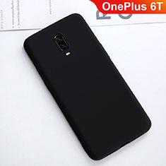 Silikon Hülle Handyhülle Ultra Dünn Schutzhülle Tasche S01 für OnePlus 6T Schwarz