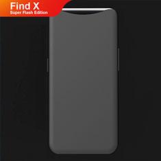 Silikon Hülle Handyhülle Ultra Dünn Schutzhülle Tasche S01 für Oppo Find X Super Flash Edition Schwarz