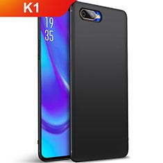 Silikon Hülle Handyhülle Ultra Dünn Schutzhülle Tasche S01 für Oppo K1 Schwarz