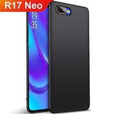 Silikon Hülle Handyhülle Ultra Dünn Schutzhülle Tasche S01 für Oppo R17 Neo Schwarz