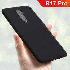 Silikon Hülle Handyhülle Ultra Dünn Schutzhülle Tasche S01 für Oppo R17 Pro Schwarz