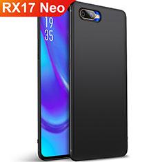 Silikon Hülle Handyhülle Ultra Dünn Schutzhülle Tasche S01 für Oppo RX17 Neo Schwarz