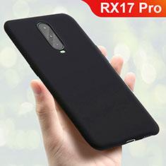 Silikon Hülle Handyhülle Ultra Dünn Schutzhülle Tasche S01 für Oppo RX17 Pro Schwarz