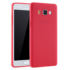 Silikon Hülle Handyhülle Ultra Dünn Schutzhülle Tasche S01 für Samsung Galaxy A7 Duos SM-A700F A700FD Rot