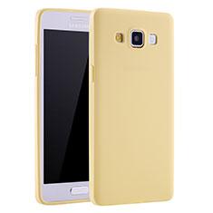 Silikon Hülle Handyhülle Ultra Dünn Schutzhülle Tasche S01 für Samsung Galaxy A7 SM-A700 Gelb