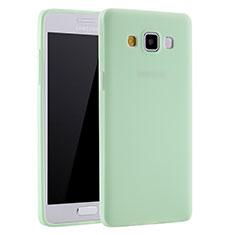 Silikon Hülle Handyhülle Ultra Dünn Schutzhülle Tasche S01 für Samsung Galaxy A7 SM-A700 Grün