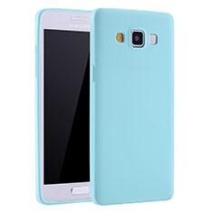 Silikon Hülle Handyhülle Ultra Dünn Schutzhülle Tasche S01 für Samsung Galaxy A7 SM-A700 Hellblau