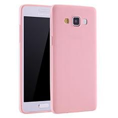 Silikon Hülle Handyhülle Ultra Dünn Schutzhülle Tasche S01 für Samsung Galaxy A7 SM-A700 Rosa