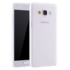 Silikon Hülle Handyhülle Ultra Dünn Schutzhülle Tasche S01 für Samsung Galaxy A7 SM-A700 Weiß