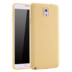 Silikon Hülle Handyhülle Ultra Dünn Schutzhülle Tasche S01 für Samsung Galaxy Note 3 N9000 Gold