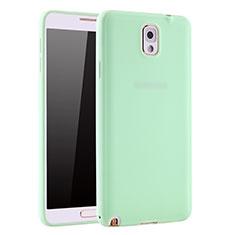 Silikon Hülle Handyhülle Ultra Dünn Schutzhülle Tasche S01 für Samsung Galaxy Note 3 N9000 Grün
