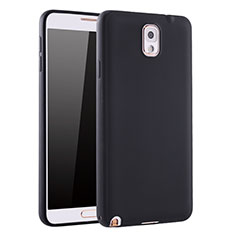 Silikon Hülle Handyhülle Ultra Dünn Schutzhülle Tasche S01 für Samsung Galaxy Note 3 N9000 Schwarz
