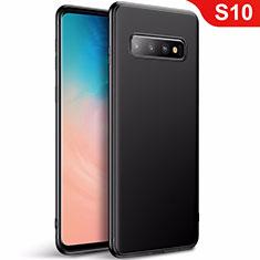 Silikon Hülle Handyhülle Ultra Dünn Schutzhülle Tasche S01 für Samsung Galaxy S10 Schwarz