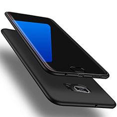 Silikon Hülle Handyhülle Ultra Dünn Schutzhülle Tasche S01 für Samsung Galaxy S7 Edge G935F Schwarz