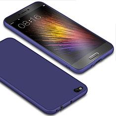 Silikon Hülle Handyhülle Ultra Dünn Schutzhülle Tasche S01 für Xiaomi Mi 5C Blau