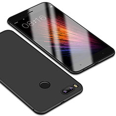 Silikon Hülle Handyhülle Ultra Dünn Schutzhülle Tasche S01 für Xiaomi Mi A1 Schwarz