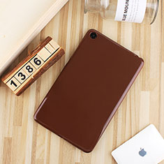Silikon Hülle Handyhülle Ultra Dünn Schutzhülle Tasche S01 für Xiaomi Mi Pad 4 Braun