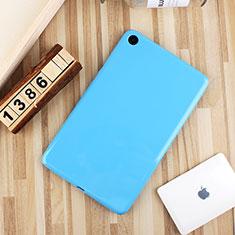 Silikon Hülle Handyhülle Ultra Dünn Schutzhülle Tasche S01 für Xiaomi Mi Pad 4 Hellblau