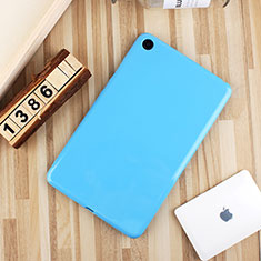 Silikon Hülle Handyhülle Ultra Dünn Schutzhülle Tasche S01 für Xiaomi Mi Pad 4 Plus 10.1 Hellblau