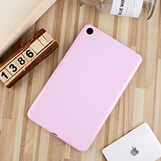Silikon Hülle Handyhülle Ultra Dünn Schutzhülle Tasche S01 für Xiaomi Mi Pad 4 Plus 10.1 Rosa