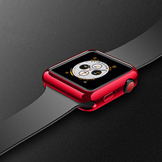 Silikon Hülle Handyhülle Ultra Dünn Schutzhülle Tasche S02 für Apple iWatch 4 40mm Rot