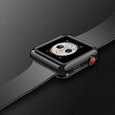 Silikon Hülle Handyhülle Ultra Dünn Schutzhülle Tasche S02 für Apple iWatch 4 40mm Schwarz