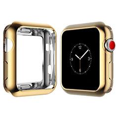 Silikon Hülle Handyhülle Ultra Dünn Schutzhülle Tasche S02 für Apple iWatch 4 44mm Gold