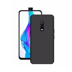Silikon Hülle Handyhülle Ultra Dünn Schutzhülle Tasche S02 für Oppo Realme X Schwarz