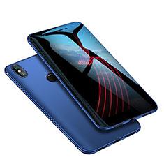 Silikon Hülle Handyhülle Ultra Dünn Schutzhülle Tasche S02 für Xiaomi Mi A2 Blau