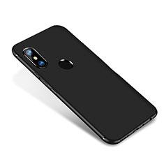 Silikon Hülle Handyhülle Ultra Dünn Schutzhülle Tasche S02 für Xiaomi Redmi Note 5 AI Dual Camera Schwarz