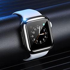 Silikon Hülle Handyhülle Ultra Dünn Schutzhülle Tasche S03 für Apple iWatch 4 40mm Schwarz