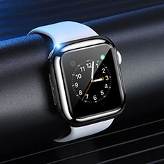 Silikon Hülle Handyhülle Ultra Dünn Schutzhülle Tasche S03 für Apple iWatch 4 44mm Schwarz