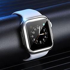 Silikon Hülle Handyhülle Ultra Dünn Schutzhülle Tasche S03 für Apple iWatch 4 44mm Silber