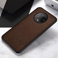 Silikon Hülle Handyhülle Ultra Dünn Schutzhülle Tasche S04 für OnePlus 7T Braun
