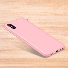 Silikon Hülle Handyhülle Ultra Dünn Schutzhülle Tasche S06 für Xiaomi Mi 8 Explorer Rosa