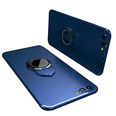 Silikon Hülle Handyhülle Ultra Dünn Schutzhülle Tasche Silikon mit Fingerring Ständer für Huawei Honor View 10 Blau