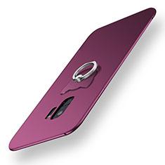Silikon Hülle Handyhülle Ultra Dünn Schutzhülle Tasche Silikon mit Fingerring Ständer für Samsung Galaxy S9 Violett