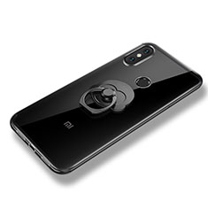 Silikon Hülle Handyhülle Ultra Dünn Schutzhülle Tasche Silikon mit Fingerring Ständer für Xiaomi Mi 8 SE Klar