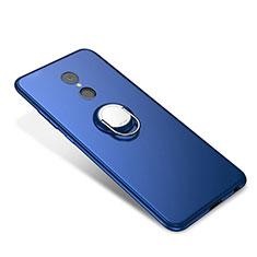 Silikon Hülle Handyhülle Ultra Dünn Schutzhülle Tasche Silikon mit Fingerring Ständer für Xiaomi Redmi 5 Blau