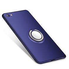 Silikon Hülle Handyhülle Ultra Dünn Schutzhülle Tasche Silikon mit Fingerring Ständer für Xiaomi Redmi Note 5A Standard Edition Blau