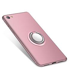 Silikon Hülle Handyhülle Ultra Dünn Schutzhülle Tasche Silikon mit Fingerring Ständer für Xiaomi Redmi Note 5A Standard Edition Rosa