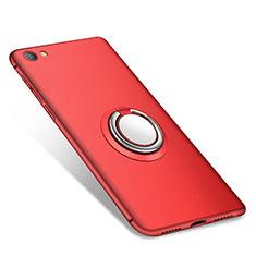 Silikon Hülle Handyhülle Ultra Dünn Schutzhülle Tasche Silikon mit Fingerring Ständer für Xiaomi Redmi Note 5A Standard Edition Rot