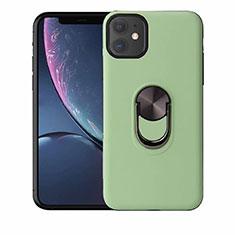 Silikon Hülle Handyhülle Ultra Dünn Schutzhülle Tasche Silikon mit Magnetisch Fingerring Ständer A01 für Apple iPhone 11 Grün