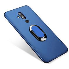 Silikon Hülle Handyhülle Ultra Dünn Schutzhülle Tasche Silikon mit Magnetisch Fingerring Ständer für Huawei Mate 20 Lite Blau