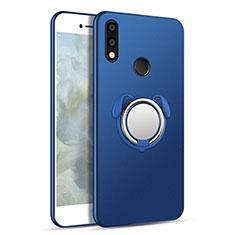 Silikon Hülle Handyhülle Ultra Dünn Schutzhülle Tasche Silikon mit Magnetisch Fingerring Ständer für Samsung Galaxy A8s SM-G8870 Blau