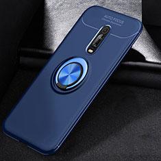 Silikon Hülle Handyhülle Ultra Dünn Schutzhülle Tasche Silikon mit Magnetisch Fingerring Ständer für Xiaomi Mi 9T Pro Blau