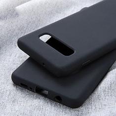 Silikon Hülle Handyhülle Ultra Dünn Schutzhülle Tasche U01 für Samsung Galaxy S10 Plus Schwarz