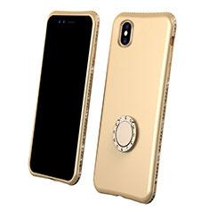 Silikon Hülle Handyhülle Ultra Dünn Schutzhülle Tasche Vorder und Rückseite 360 Grad für Apple iPhone Xs Max Gold