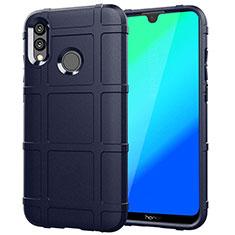 Silikon Hülle Handyhülle Ultra Dünn Schutzhülle Tasche Vorder und Rückseite 360 Grad für Huawei Honor 10 Lite Blau