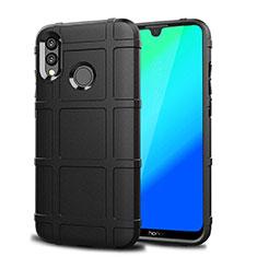Silikon Hülle Handyhülle Ultra Dünn Schutzhülle Tasche Vorder und Rückseite 360 Grad für Huawei P Smart (2019) Schwarz